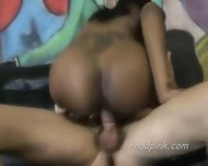 Large Assed Black Teen Rides On Dick - scene 1