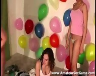 Naked Amateur Lesbian Kisses In Party Game - scene 11