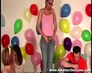 Naked Amateur Lesbian Kisses In Party Game - scene 3
