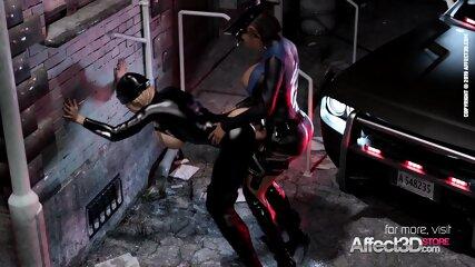 Big tits burglar gets futanari justice system experience