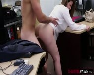 Sexy Brunette Lady Selling Her Old Stuff Ends Up In The Office - scene 8