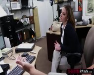Sexy Brunette Lady Selling Her Old Stuff Ends Up In The Office - scene 4