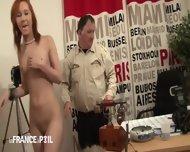 Two Cocks In Redhead Bitch - scene 4