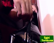 Ladyboy Benz In Corset Anal Toy Playing - scene 1
