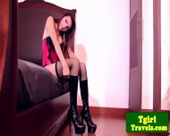Ladyboy Benz In Corset Anal Toy Playing - scene 3