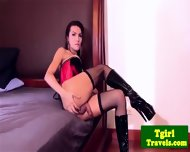 Ladyboy Benz In Corset Anal Toy Playing - scene 5
