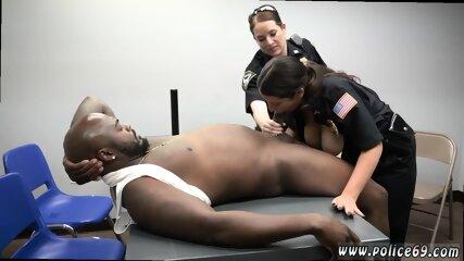 Hot blonde milf gets creampie and black inmates fucking Milf Cops