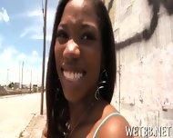 Ebony Gives Wet Blowjob - scene 1