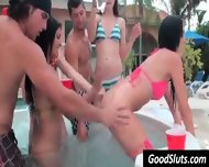 Slut Party In Garden Pool - scene 11