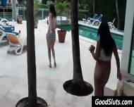 Slut Party In Garden Pool - scene 2