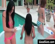 Slut Party In Garden Pool - scene 5