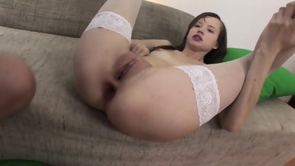 Young Babe With White Stockings And Dick In Ass - scene 10