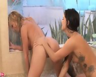Darkhair Lezzies Fingering Incredible - scene 8