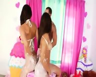 Anus Threesome Playing With Cream - scene 3