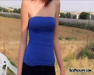 Pretty Amateur Redhead Eurobabe Fucked In An Open Fields - scene 2