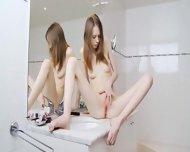 Beautiful Sknny Girl Finger For Mirror - scene 10