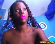 Sensual Ebony Babe Rubs Her Hairy Pussy - scene 3