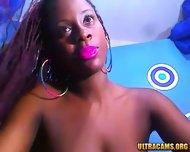 Sensual Ebony Babe Rubs Her Hairy Pussy - scene 7