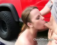 College Car Wash Sex Filmed By Students - scene 10
