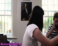 Lesbian Mormon Teens Lick - scene 2