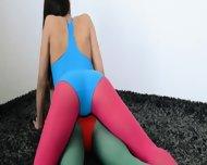 Hairy Lesbians In Nylon Pants Banging - scene 3