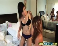 Teen Lez Step Sib Licks - scene 8