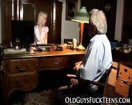 Teen Blows Old Guys Cock - scene 2