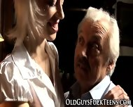 Teen Blows Old Guys Cock - scene 3