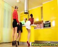 Classy Lesbos Drink Piss - scene 1