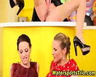 Classy Lesbos Drink Piss - scene 9