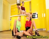 Classy Lesbos Drink Piss - scene 10