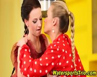 Classy Lesbos Drink Piss - scene 5