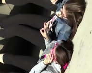 Teen Girls Proudly Show Their Asses - scene 11