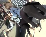Teen Girls Proudly Show Their Asses - scene 12