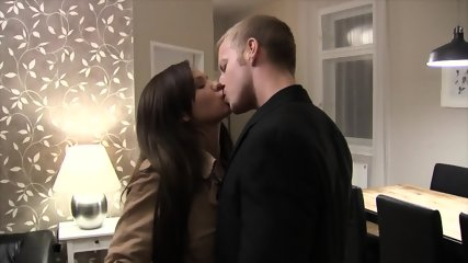 Horny Brunette With Stockings Wants To Be Fucked Hard - scene 1