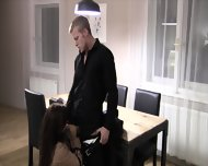 Horny Brunette With Stockings Wants To Be Fucked Hard - scene 3