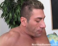 Blonde Mature Mom Takes It Anal - scene 4