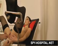 Beatiful Female Gyno-chair Exam Caught On Hidden Camera - scene 12