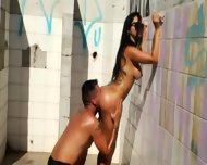 Extreme Bitch Copulated Outdoors - scene 5