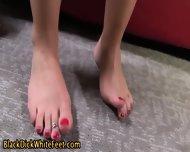Feet Get Covered In Sperm - scene 1