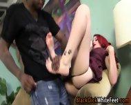 Redhead Toe Tugs Big Dick - scene 8