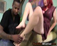 Redhead Toe Tugs Big Dick - scene 6