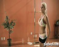 Hot Yoga Of Two Brunettes And Sexy Big Boobs Blonde Trainer - scene 1