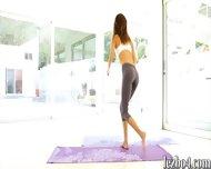Yoga Session Of Alina Li And Adriana That Leads Into Lesbian Sex - scene 2