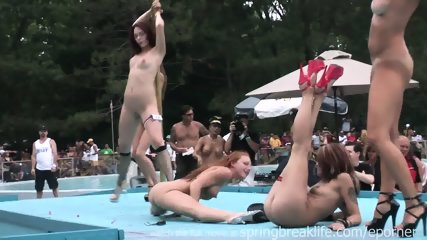 Naked Outdoor Strip Show - scene 8