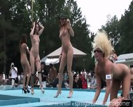 Naked Outdoor Strip Show - scene 9