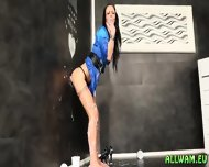 Slimy Glory Hole For Euro Hottie - scene 4