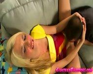 Blonde Teen In White Panties Teasing - scene 11