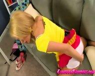 Blonde Teen In White Panties Teasing - scene 2