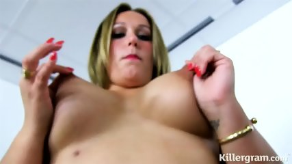 Busty Blonde Alone At Work - scene 3